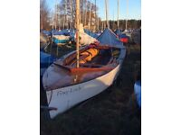 GP14 dinghy 3337. Sound overall condition. Spare set of sails, breathable cover, launch trolley.
