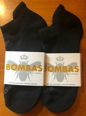 (2) Pack Bombas Men's Ankle Socks Size EXTRA LARGE BLK