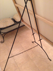 Wrought Iron Art Display Easel