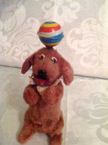 1950's Wind Up Dog with Ball Toy Made in Japan