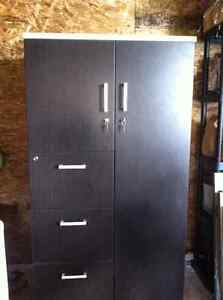 Storage and filing cabinet, espresso color, good condition