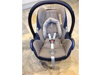 Maxi Cosi Cabriofix Baby Car Seat 0-13kg Denim Blue/ Grey VGC 0-12 months