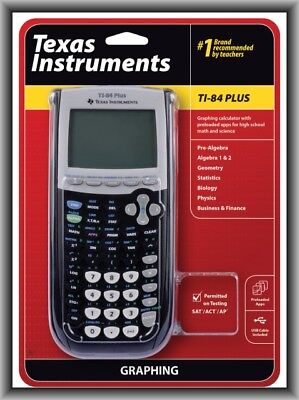 Texas Instruments TI-84 Plus Graphing Calculator, New Retail Box !!!