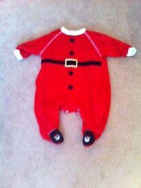 6-9 month Santa babygro