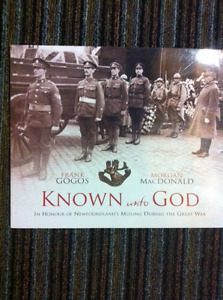 """""""Known unto God"""" book - In honour of Newfoundland's missing..."""