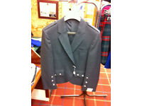 Gents Charcoal Grey Crail Kilt jacket