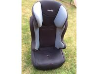 Nania car seat. 3 years plus. Going cheap £15. adjustable head rest.