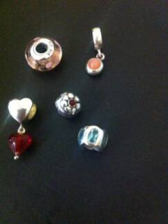 Authentic Pandora Beads -  Set of 5 Wavell Heights Brisbane North East Preview