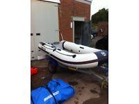 Yamaha 10ft inflatable boat dinghy rib yacht tender rib V Keel 3.0m fishing boat