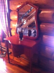 Colonial style Vanity Table and Mirror - $200.00
