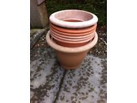 Large plastic garden pots - free of charge