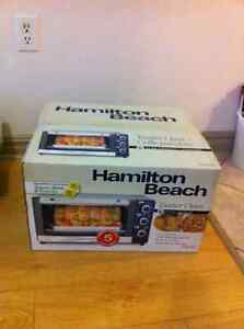 The Hamilton Beach 6-Slice Toaster Oven Retail price $48
