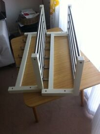 2 x white Coat Rack / Hat Rack for sale - TJUSIG from IKEA