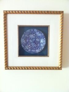 Gorgeous Antique Flow Blue China Plate Shadow Box Framed