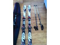 Men's Skis K2 Apache Skis, Poles and Bag