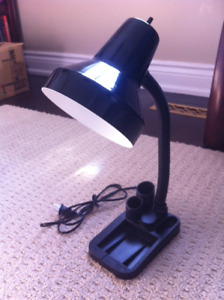Desk lamp, with pen/pencil/pad holder
