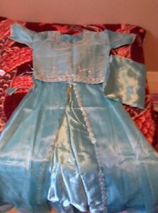 NEW silky teal color Indian dress - size small - $20