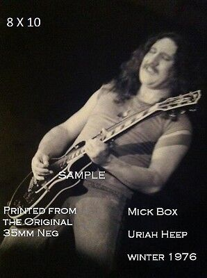 Uriah Heep 1976 8 X 10 B & W Photo Mick Box Jacksonville,FL
