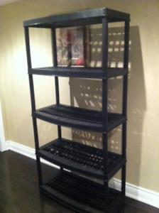 5 shelf storage shelving unit (6 available)