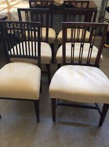 Beautiful antique dining room chairs for sale
