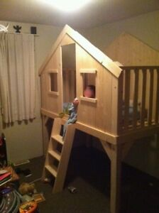 Gorgeous Custom Made Club House Loft Bed