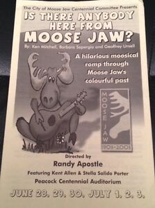 Is There Anybody Here From Moose Jaw? 45 rpm record. Moose Jaw Regina Area image 3
