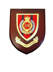 Royal Engineers Wall Plaque UK Hand Made for MOD Regimental Military