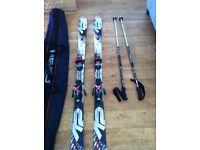 K2 Apache Raider Skis with bindings, poles and bag