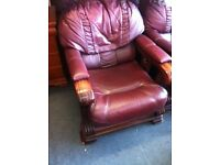2 leather armchairs free local delivery