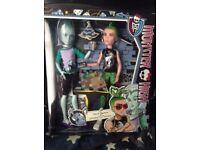 Monster High Doll - Deuce Gorgon and Gillington & Gil Webber - BNIB - £10
