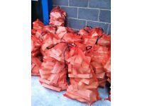 firewood - net bags of softwood cuttings for logburners