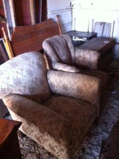 Old wooden framed arm chairs Frankston South Frankston Area Preview
