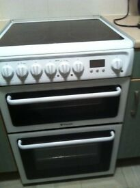 Hotpoint Double Oven, HAE60, Free-Standing Electric Double Oven Cooker. £150