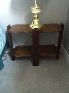 Vintage antique side table small for lamp or small items