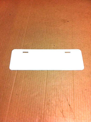 24 Pcs.024 4x12gloss White Aluminum License Platecar Tag Blanks Masked.