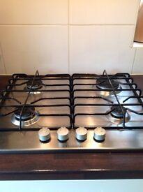 Complete 12 unit Paula Rosa Morello, Alabastar coloured kitchen, gas hob and extractor hood