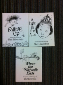 Shel Silverstein Books - Poems & Drawings - 3 hardcover books