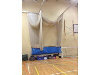 INDOOR CRICKET NETS AND MATS