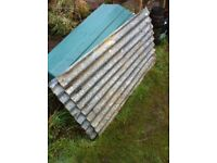 Corrugated metal sheets x2