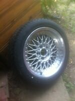 One BMW tire and Rim $240