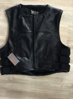 Leather Vest with armour in the back