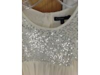 Autograph M&S Bridesmaid dress Cream with sequin bodice Age 6-7