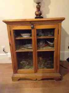 Canadiana Pine China Cabinet