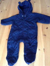 3-6 months babyGap all-in-one quilted pramsuit / snowsuit