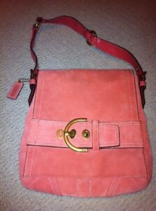 COACH Pink Suede Purse