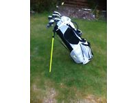 golf bag and irons