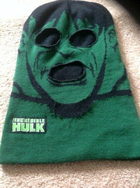 HULK Full Face Mask Toboggan Hat One Size EUC