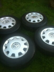 4 VOLKSWAGON GOLF TYRES AND RIMS