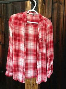 Dynamite - Red Plaid Shirt