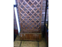 Planter with trellis back - High quality pressure-treated timber